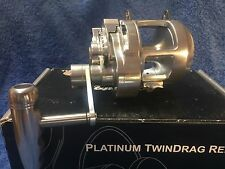 Accurate Platinum ATD-6 2 speed twin drag game reel NEW