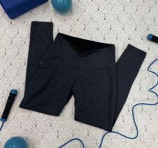 Built Apparel Sz S Gray High Waisted Full Length Poly Spandex Leggings Pocket