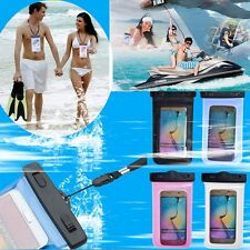 Waterproof Pouch Bag Cover Case For Gadgets Asus Vivo Oppo iPhone LG Nokia(Blue)