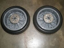 "OEM Toro Super Recycler Cast Deck Lawnmower Rear Wheels   8"" 98-7135  Set of 2"