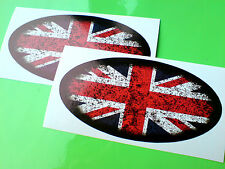 UNION JACK Distressed Van Car Motorcycle Caravan Stickers Decals 2 off 105mm