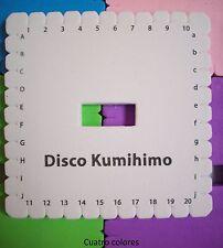 DISCO KUMIHIMO CUADRADO 12 cm CIRCULAR PARA PULSERAS, MANUALIDADES, TELAR.