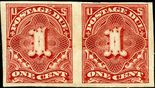 #J31a 1¢ ON STAMP PAPER IMPERF PAIR RARE BL9251