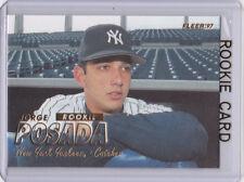 JORGE POSADA ROOKIE CARD Fleer RC Baseball New York Yankees Catcher MLB LE