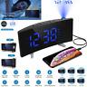Digital Alarm Clock Projection FM Radio LED Dual Alarms Snooze USB Charging Port