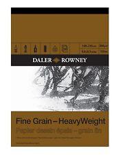 DALER ROWNEY FINE GRAIN HEAVYWEIGHT PAD - A3 (200gsm)