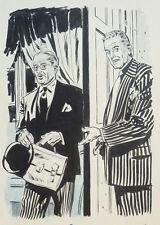 Dessin original de Angelo DI MARCO illustration vers 1955 pour le journal MARIUS