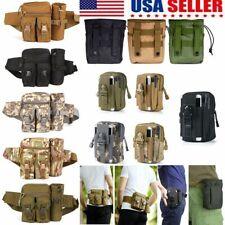 Men Tactical Nylon Waist Bag Military Molle Fanny Pack Travel Hip Belt Bum Pouch