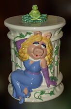 Miss Piggy & Kermit Cookie Jar Treasure Craft Henson Early 90's Muppets