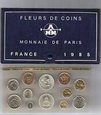 FRANCE coffret FDC fleur de coin 1985 série des monnaie francaises 1985