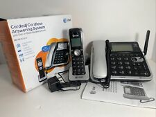 AT&T AT&T CL84102 DECT 6.0 Corded/Cordless Phone System with Digital Answering