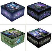 Mirrored Trinket Jewellery Box: Anne Stokes - Fairy, Unicorn, Pagan Designs New