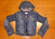 Abercrombie & Fitch Girls Denim Hooded Jacket youth jeans polo af tommy hilfiger
