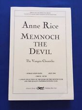 MEMNOCH THE DEVIL - UNCORRECTED PROOF SIGNED BY ANNE RICE