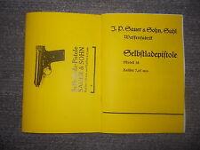2 Beschreibung Pistole Sauer & Sohn Modell 1919 & Modell 38 Kaliber 7,65 mm