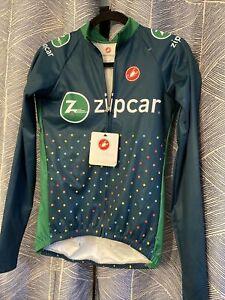 Castelli Riparo Men's Cycling Rain Jacket Size Medium GREEN Zipcar NWT