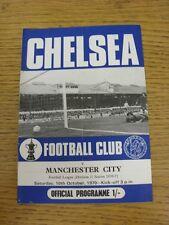 10/10/1970 Chelsea V Manchester City (piega). questo oggetto è stato ispezionato, qualsiasi