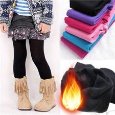 Niños Chicas Invierno De Algodón Caliente Leggings Pantalones Pantalones de Lana térmica edad 1-13