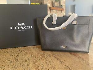 Coach black leather purse handbag new