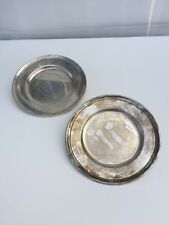 "2 Tiffany & Co. Sterling Silver Engravable 6"" Regency Round Trays"