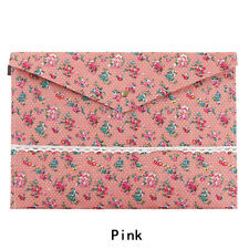 1 Pcs Cute Korean Style Little Flowers Fabric A4 File Folder Stationery Bag