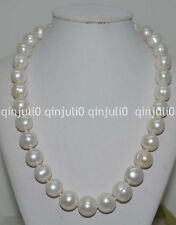 """Natural Huge white 12-14mm Cultured freshwater Pearl Necklace 18"""" JN1128"""