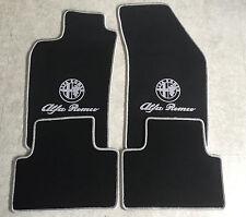 Autoteppich Fußmatten für Alfa Romeo 147 schwarz silber 2000-10 Logo Schrift Neu