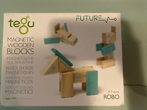 Tegu Robo Magnetic Wooden Block Set 8PCS