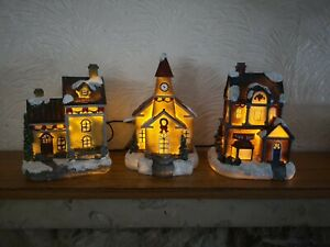 Village Scene Christmas Lampions Battery