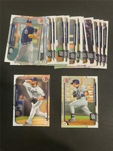2015 Bowman San Diego Padres Team Set 19 Cards With Prospects & Draft