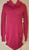 Women's Old Navy Maternity Fuchsia Pink Long Sleeve Cowl Neck Sweater Top XS,S,M