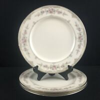 Set of 3 VTG Salad Plates Noritake Shenandoah Multi Floral Platinum 9729 Japan
