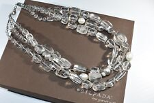 "Silpada Sterling Silver, Quartz, Pearl, Agate ""White Heat"" Necklace N1789 NEW"