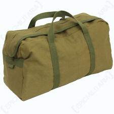 Large Khaki US Army Tool Bag - Gym Bag Holdall Pack American Military Duffel New
