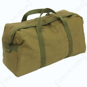 Large Khaki US Army Tool Bag - Gym bag Holdall Pack American Military Duffel New