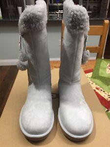 NIB UGG Womens Plumdale Cuff Tall Boots Gray Size 7