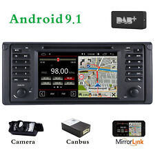 Android 9.1 DAB+In Car stereo CD for BMW 5 Series E39 E53 X5 M5 Sat Nav GPS WIFI