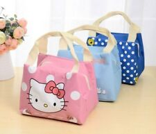 Hello Kitty kids Lunch Thermal Bag Insulated School Box Warmer Cooler Food Bag