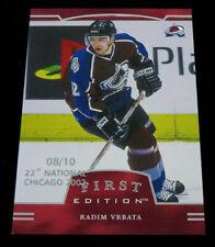 2002-03 BAP First Edition Chicago National #212 Radim Vrbata Hockey Card 8/10