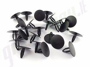 Tanne Verkleidung Clips 6,5 mm Loch, 21,5 mm Kopf, Innenraum Schwarz Grau