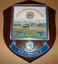 Irish Police/Garda Air Support Wall Plaque personalised free of charge.