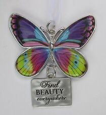 c Find beauty everywhere BLISSFUL JOURNEY BUTTERFLY ORNAMENT Ganz car charm