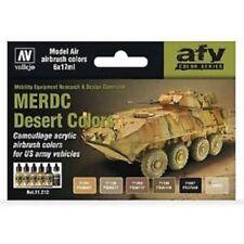 Val71212 Av Vallejo Juego Model Air - Us Merdc Desierto Colores Airbush Pinturas