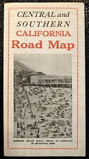 1920s CENTRAL AND SOUTHERN CALIFORNIA ROAD MAP Promoting Hermosa Redondo Beach