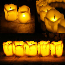 12pcs LED Flameless Votive Candles Battery Operated Flickering Tealight Wedding