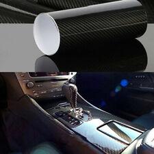 """For Car Premium Fibra De Carbono Vinilo Para Autos Carros Negro 12""""X60"""" 7D US"""