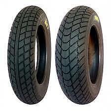 """PMT 12"""" Rain wets Pair Tyres 100/90/12 & 120/80/12 pit bike"""