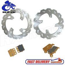 Front Rear Brake Disc Rotors + Pads for Honda CR80R CR80 96-02 CR85R CR85 03-07
