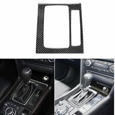 Carbon Fiber Center Control Gear Shift Panel Sticker B For Mazda3 Axela 2014-18