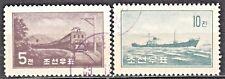 KOREA 1959 used SC#201/02  set,  Electric Lokomotive, Freighter.